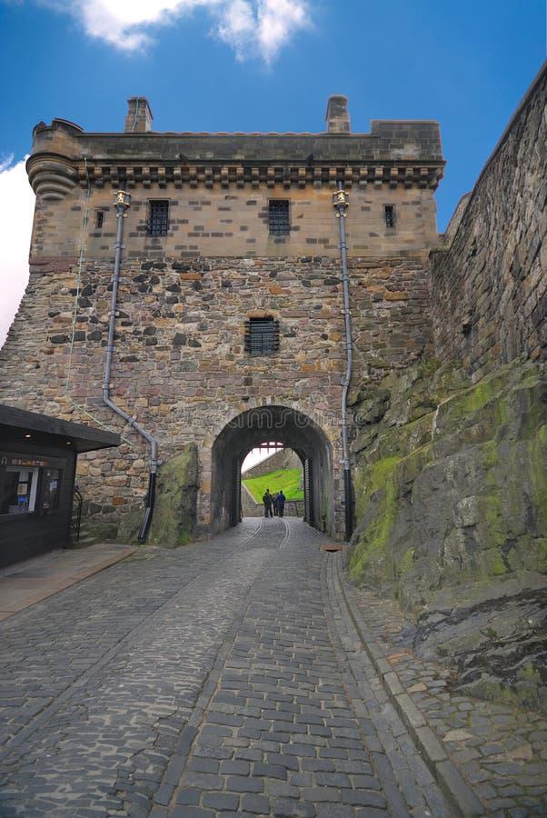 Portcullis Gatter, Edinburgh-Schloss stockbild
