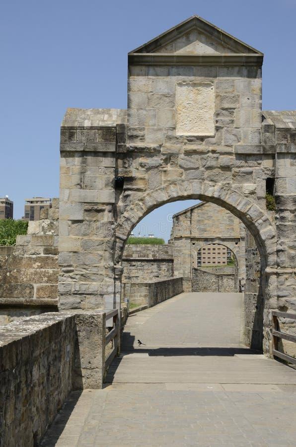 Porte à la citadelle de Pamplona image libre de droits