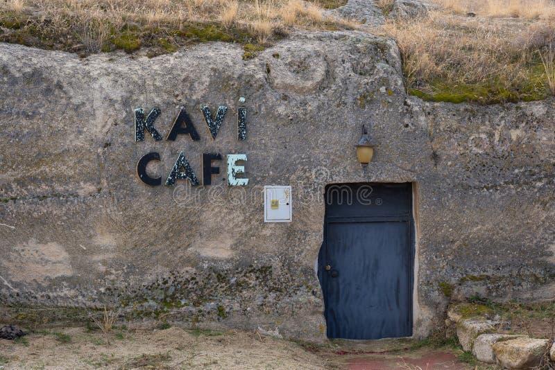 Porte étrange de magasin de coffe dans Capdocia images stock