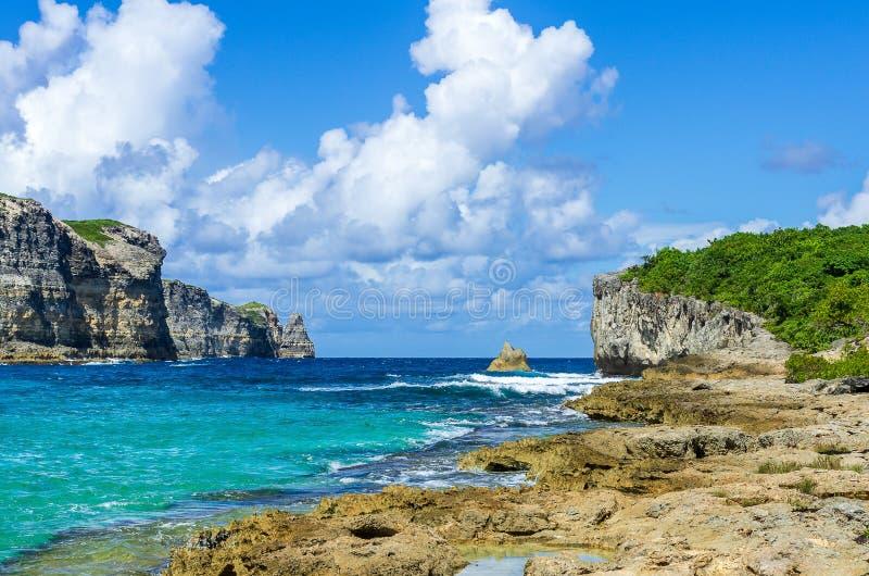 Porte δ ` enfer, Γουαδελούπη, Καραϊβικές Θάλασσες, Γαλλία στοκ εικόνες