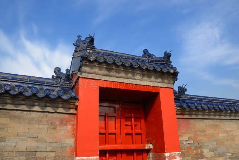 Porte antique chinoise images libres de droits