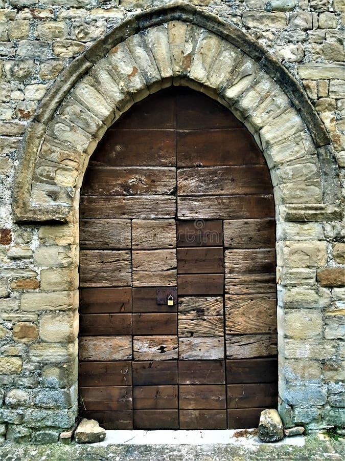 Porte antique et de vintage, fascination image stock