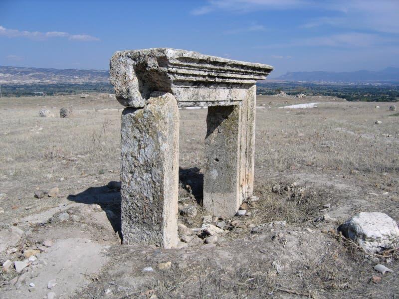 Porte antique - Laodicea, Turquie images libres de droits
