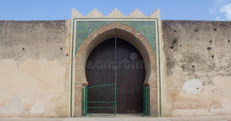 Porte antique Meknes photo stock