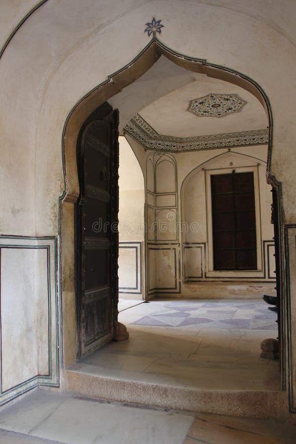 Porte arquée, Amber Fort photo libre de droits