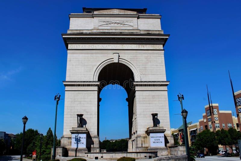 Porte atlantique de millénaire d'Atlanta de station images stock