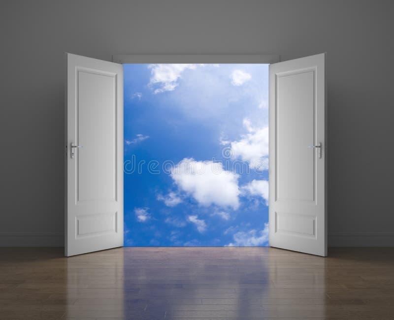 Porte au ciel illustration libre de droits