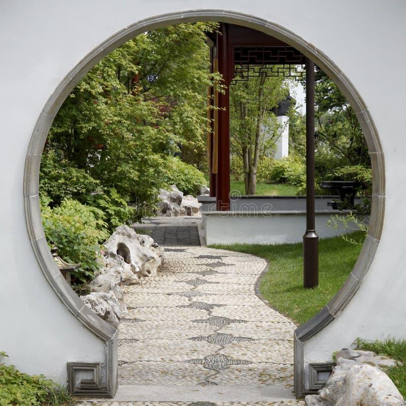 Porte Au Jardin Japonais Image Stock Image Du Architecture