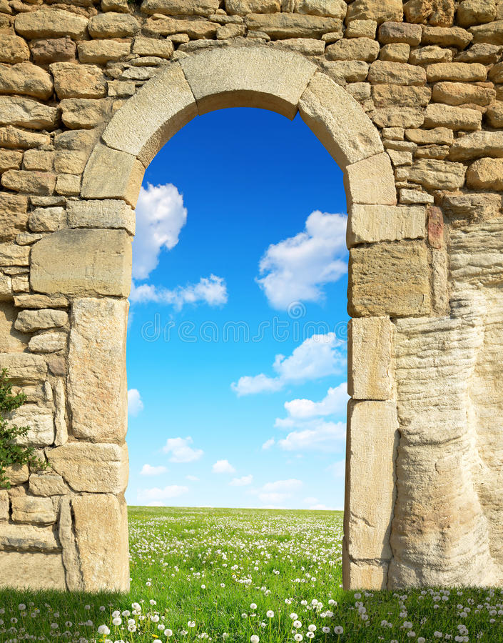 Porte au paradis images stock