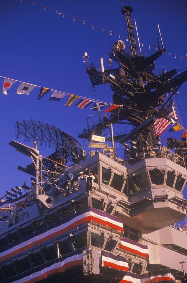 Porte-avions d'USS Kennedy photo libre de droits
