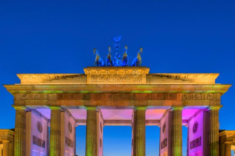 Porte Berlin de Brandenburger image stock