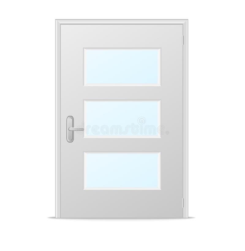 Porte Bianche Con I Pannelli Di Vetro Illustrazione Vettoriale ...
