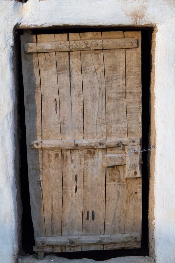 Porte boisée de vintage image stock