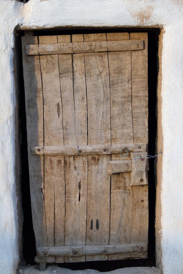 Porte boisée de vintage photographie stock libre de droits