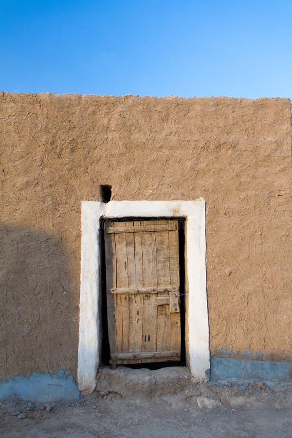 Porte boisée de vintage image libre de droits