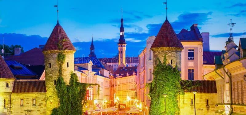 Porte célèbre de Viru - capital estonien de vieille architecture de ville de partie, photographie stock libre de droits