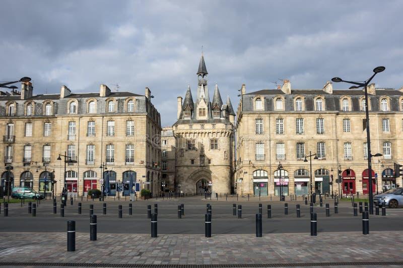 Porte Cailhau in Bordeaux fotografia stock