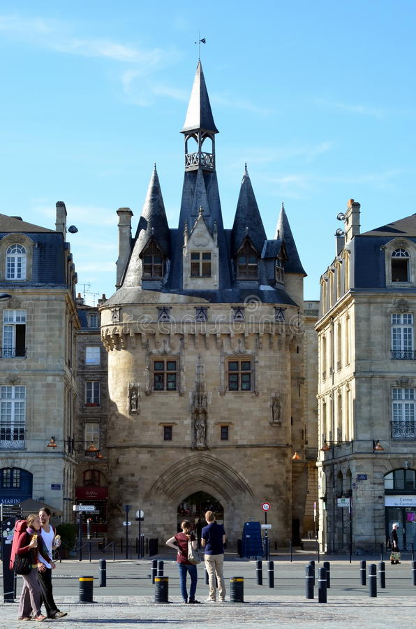 Download Porte Cailhau in Bordeaux editorial stock image. Image of town - 35193849