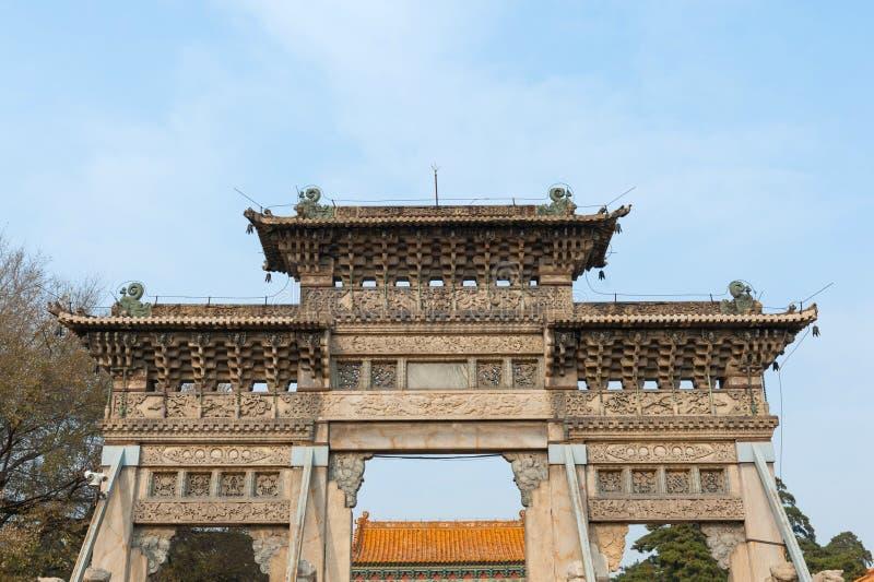 Porte chinoise antique images libres de droits