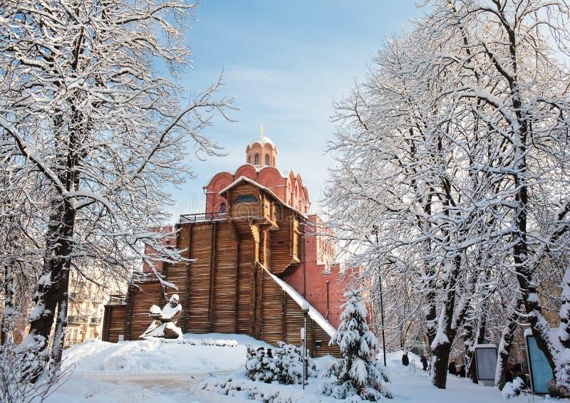 Porte d'or à Kiev images stock
