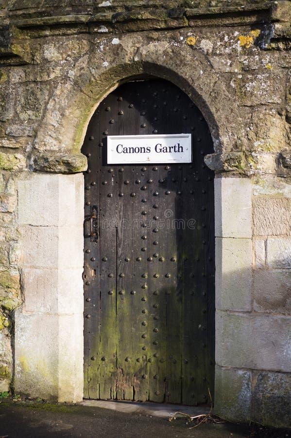 Porte d'église - canons Garth image libre de droits
