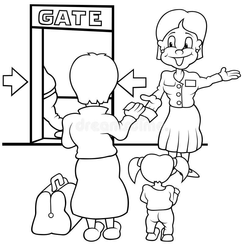 Porte d'aéroport illustration de vecteur