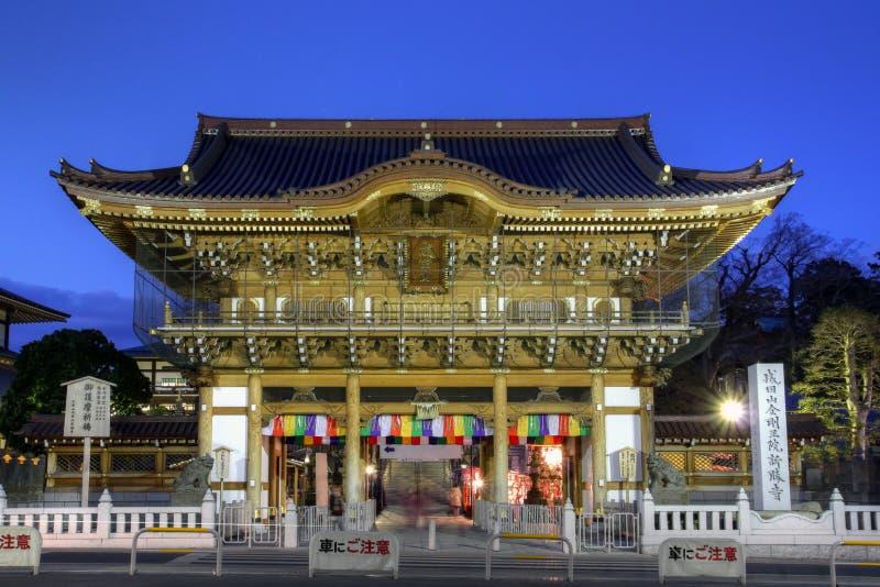 porte d'Ainsi-lundi, temple de Narita-san, près de Tokyo, le Japon photos libres de droits
