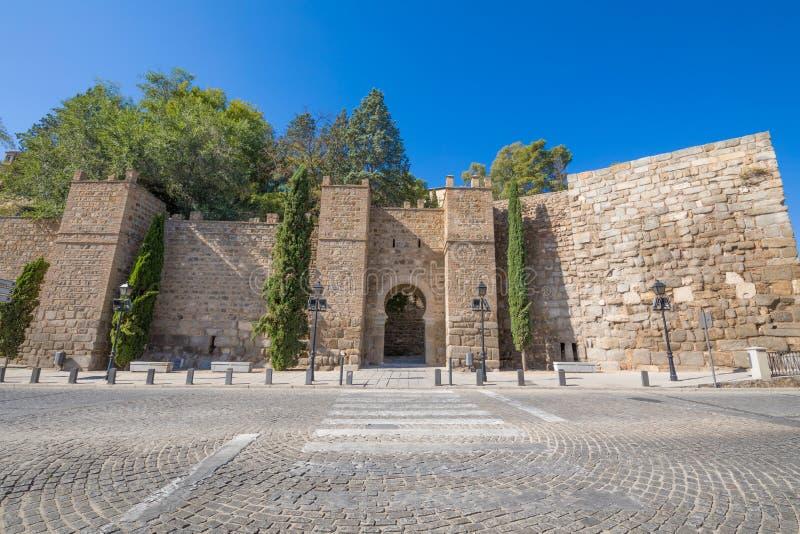 Porte d'Alcantara dans la ville de Toledo photos libres de droits