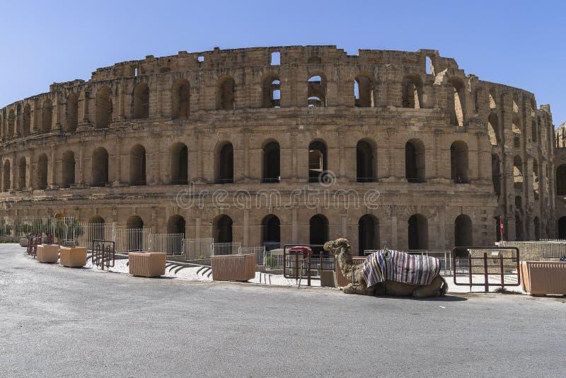 Porte d'Amphitheatre d'EL Djem photographie stock