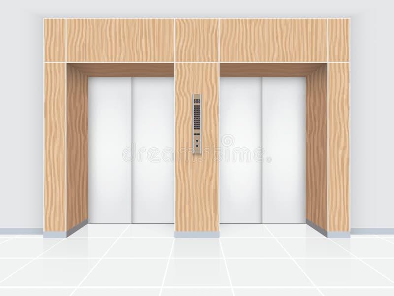 Porte d'ascenseur illustration de vecteur
