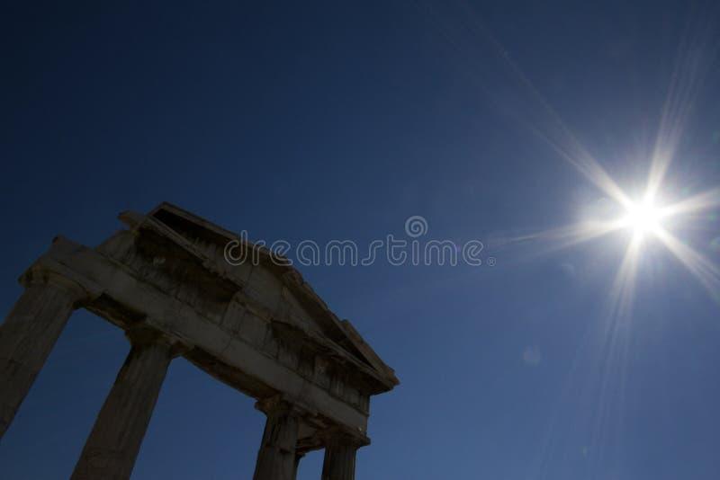 Porte d'Athena Archegetis, Athènes, Grèce photographie stock