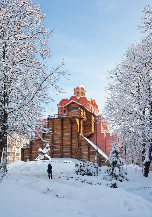Porte d'or célèbre à Kiev photographie stock