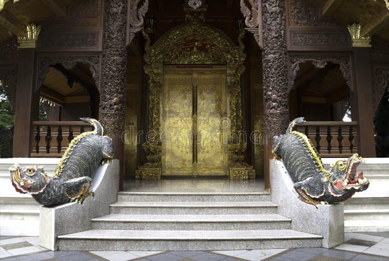 Porte d'or d'art photographie stock libre de droits