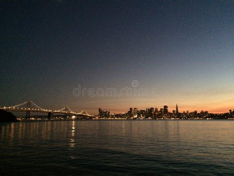 Porte d'or de San Francisco de coucher du soleil photographie stock