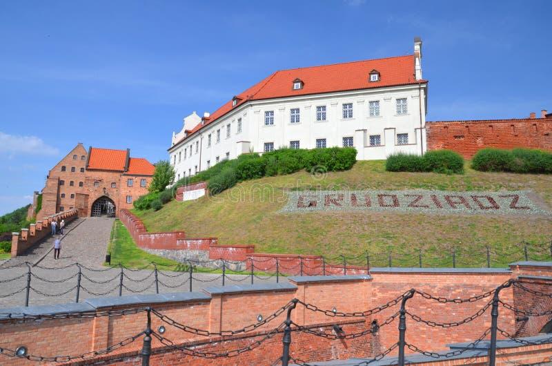 Porte d'eau historique de vieille ville dans Grudziadz, Pologne photos stock