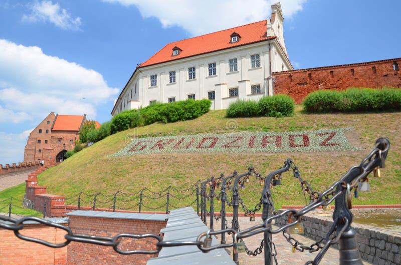 Porte d'eau historique de vieille ville dans Grudziadz, Pologne photo libre de droits