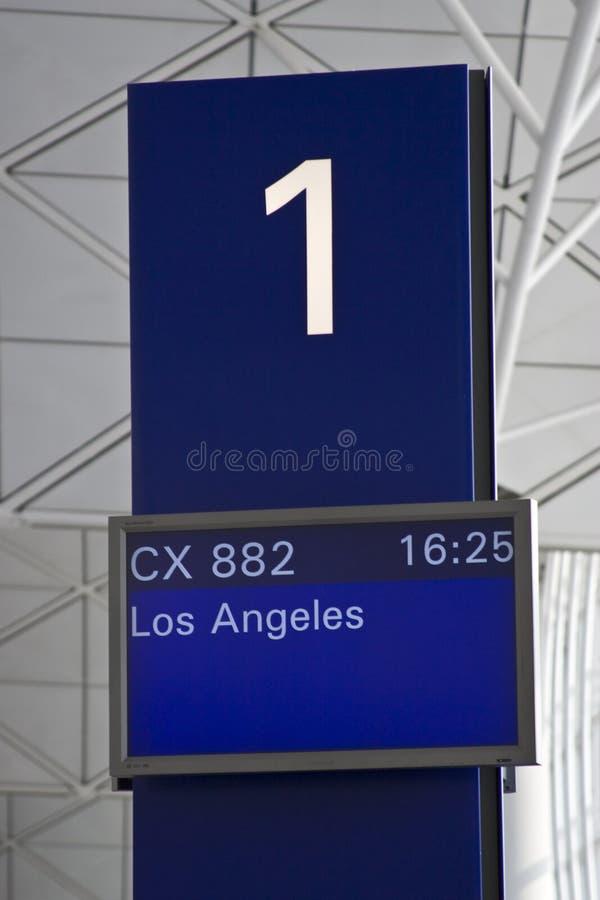 Porte d'embarquement numéro un photographie stock