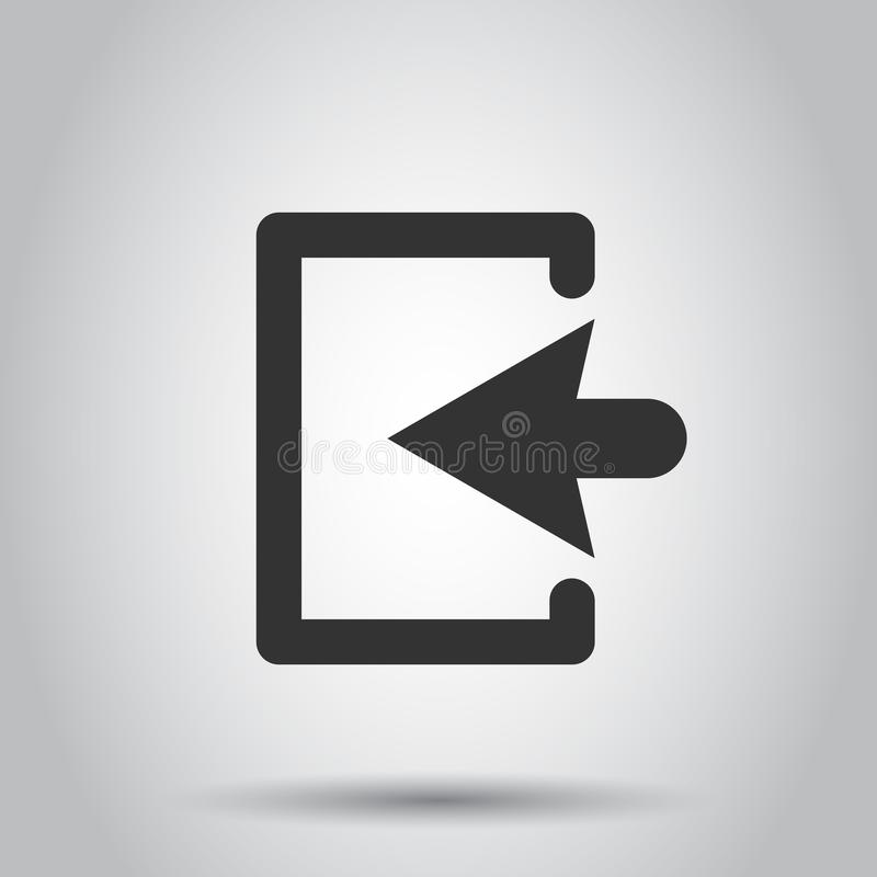 Porte d'entrée dans le style plat Illustration de portes de sortie sur le fond blanc Concept d'entrée de porte illustration de vecteur