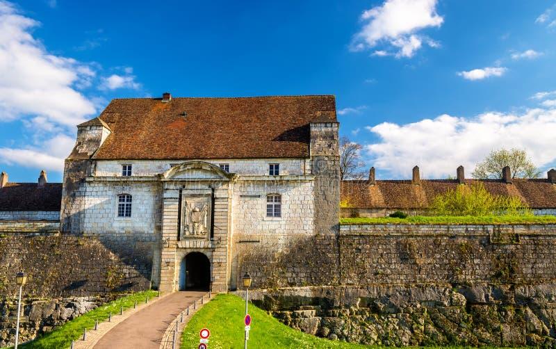 Porte d'entrée de la citadelle de Besançon photographie stock