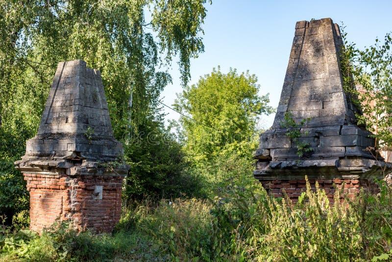Porte d'entrée du manoir de Petrovskoye-Alabino images libres de droits
