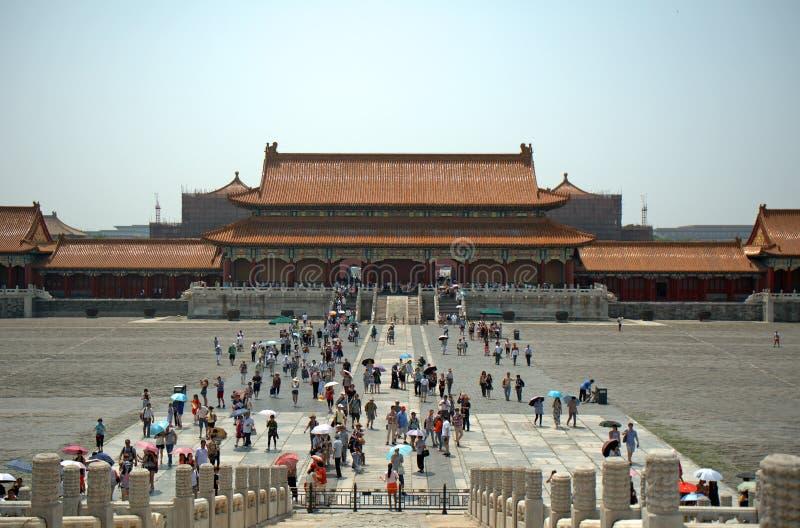 Porte d'harmonie suprême dans le Cité interdite, Pékin, Chine images libres de droits