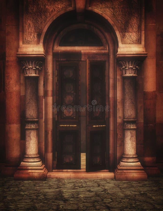 Porte d'imagination illustration de vecteur