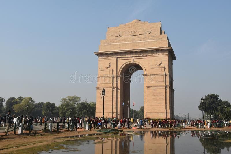 Porte d'Inde, New Delhi, Inde du nord photos libres de droits