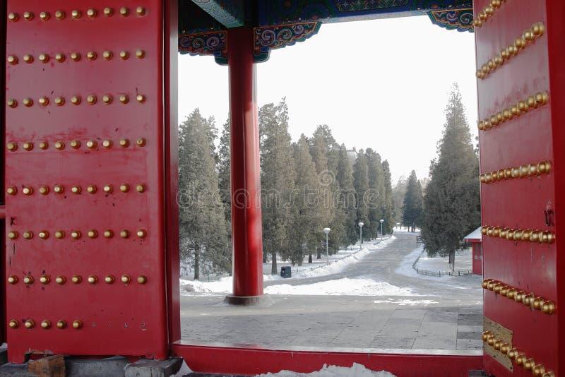 Porte dans GuGong (ville interdite, Zijincheng) photographie stock