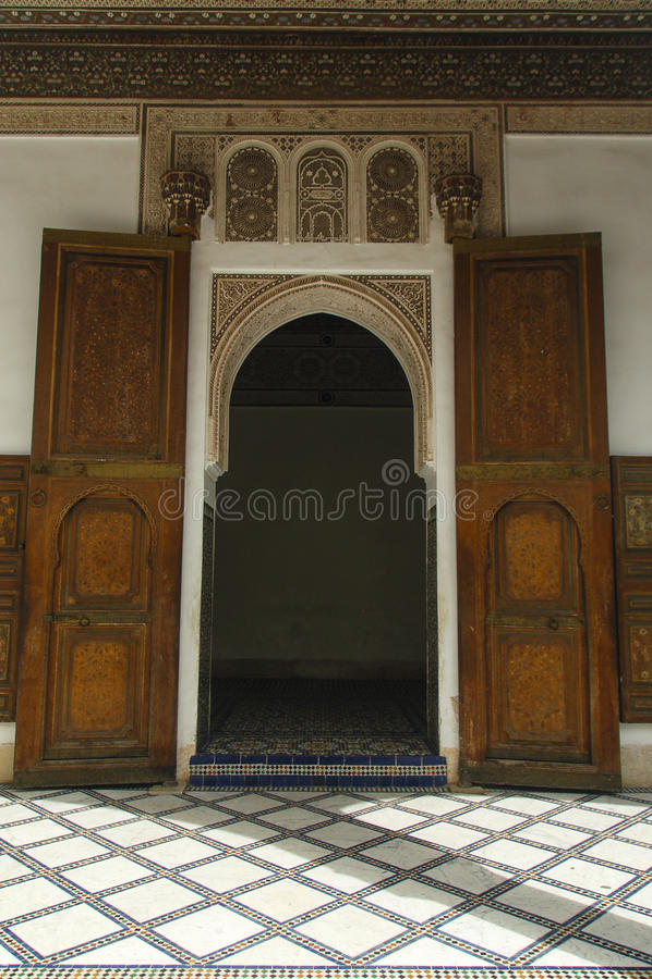 Porte #3 de palais du Bahia photos libres de droits