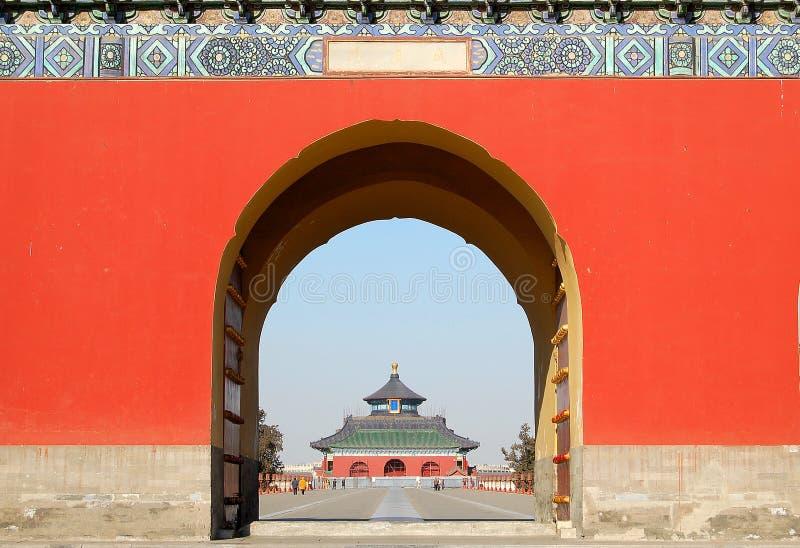 Porte dans le temple du ciel images stock