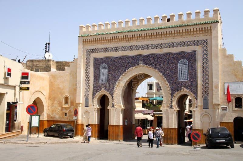 Porte de Bab Bou Jeloud images stock