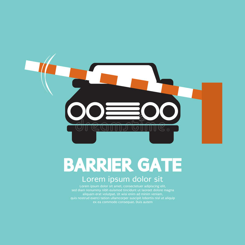 Porte de barrière de sécurité fermée pour le véhicule illustration stock