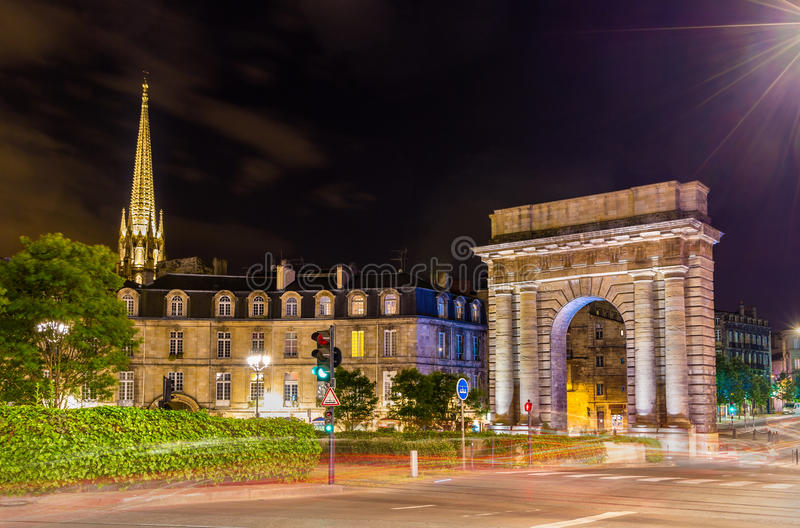 Porte DE Bourgogne in Bordeaux royalty-vrije stock fotografie