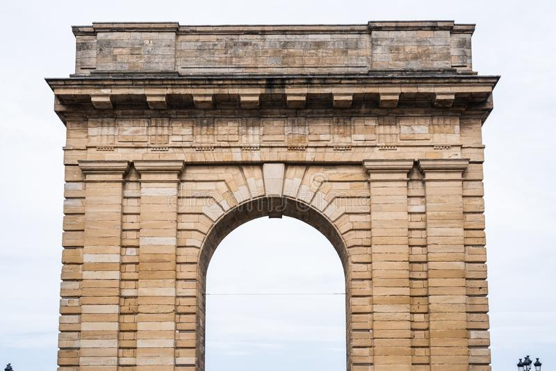 Porte de Bourgogne en Bordeaux photos stock